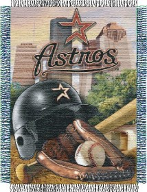 Houston Astros Woven Tapestry Throw Blanket