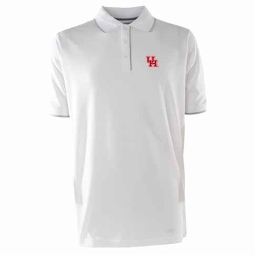 Houston Mens Elite Polo Shirt (Color: White)