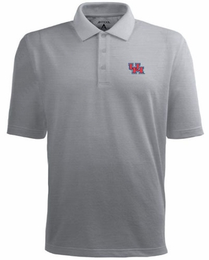 Houston Mens Pique Xtra Lite Polo Shirt (Color: Gray)