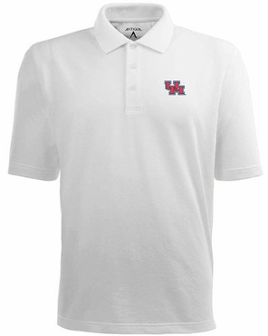Houston Mens Pique Xtra Lite Polo Shirt (Color: White)