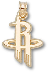 Houston Rockets 10K Gold Pendant