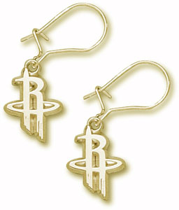 Houston Rockets 10K Gold Post or Dangle Earrings