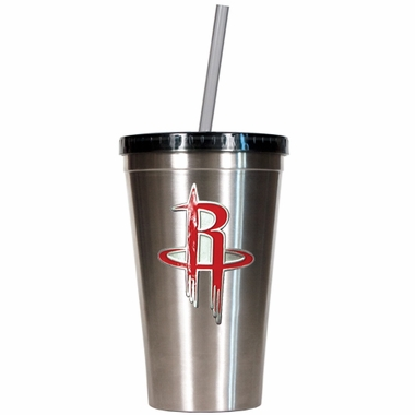 Houston Rockets 16oz Stainless Steel Insulated Tumbler with Straw