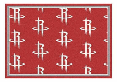 "Houston Rockets 5'4"" x 7'8"" Premium Pattern Rug"