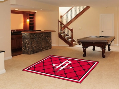 Houston Rockets 5 Foot x 8 Foot Rug