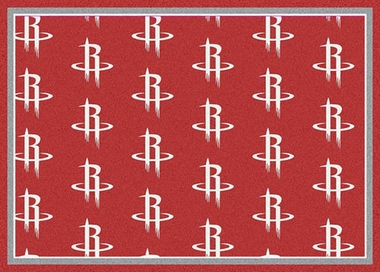"Houston Rockets 7'8 x 10'9"" Premium Pattern Rug"