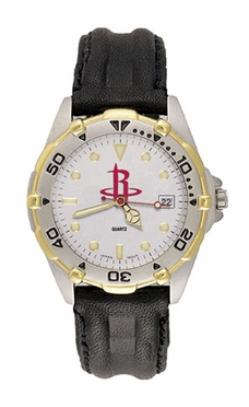 Houston Rockets All Star Mens (Leather Band) Watch