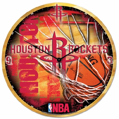 Houston Rockets Big 18 Inch Hi Definition Clock