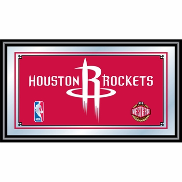 Houston Rockets Framed Logo Bar Mirror