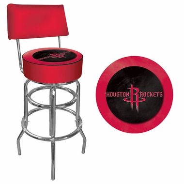 Houston Rockets Padded Bar Stool with Back