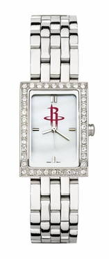 Houston Rockets Women's Steel Band Allure Watch