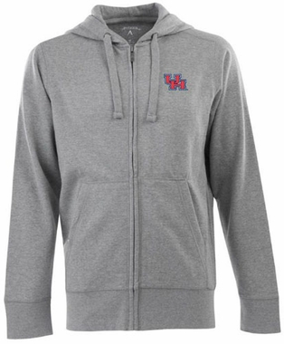 Houston Mens Signature Full Zip Hooded Sweatshirt (Color: Gray)