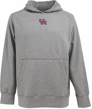 Houston Mens Signature Hooded Sweatshirt (Color: Gray)