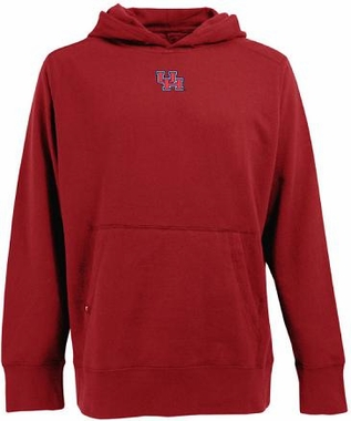 Houston Mens Signature Hooded Sweatshirt (Team Color: Red)