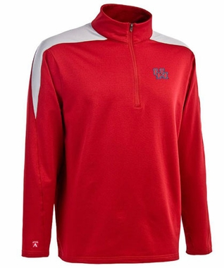 Houston Mens Succeed 1/4 Zip Performance Pullover (Team Color: Red)