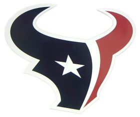 Houston Texans 12 Inch Logo Individual Car Magnet