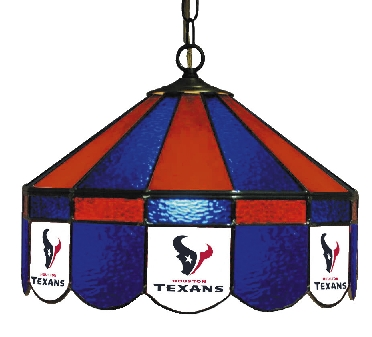 Houston Texans 16 Inch Diameter Stained Glass Pub Light