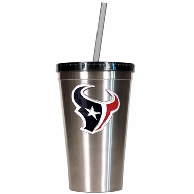 Houston Texans 16oz Stainless Steel Insulated Tumbler with Straw