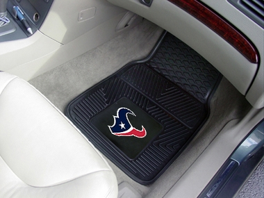 Houston Texans 2 Piece Heavy Duty Vinyl Car Mats