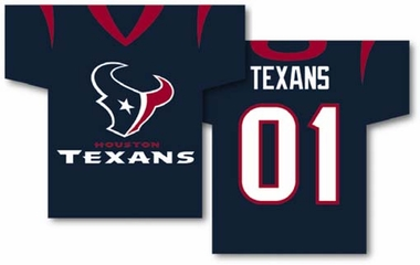 Houston Texans 2 Sided Jersey Banner Flag (F)