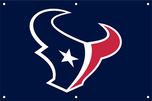 Houston Texans 2 x 3 Horizontal Applique Fan Banner