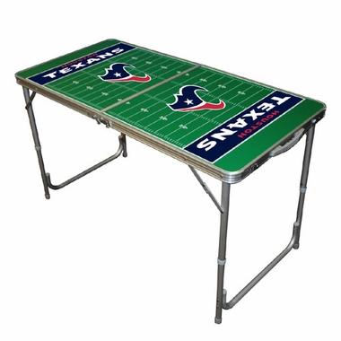 Houston Texans 2 x 4 Foot Tailgate Table