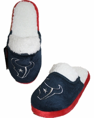 Houston Texans 2012 Womens Team Color Sherpa Glitter Slippers