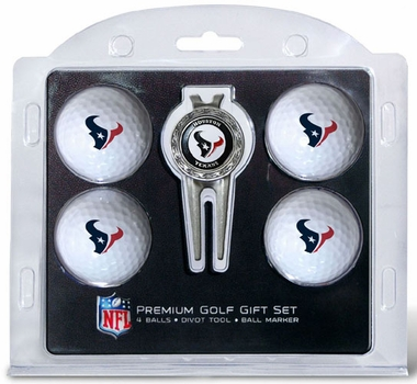 Houston Texans 4 Ball and Tool Gift Set