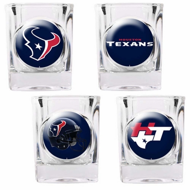 Houston Texans 4 Piece Assorted Shot Glass Set