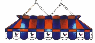 Houston Texans 40 Inch Rectangular Stained Glass Billiard Light