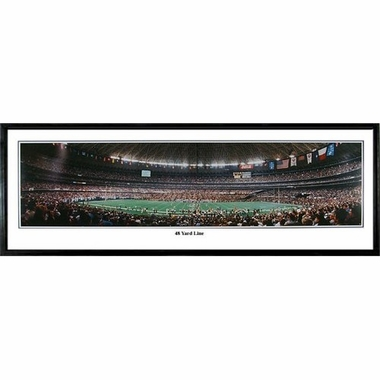Houston Texans 48 Yard Line Framed Panoramic Print