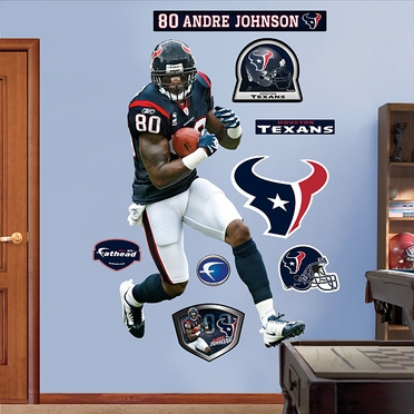 Houston Texans Andre Johnson Fathead Wall Graphic
