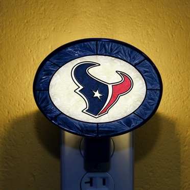 Houston Texans Art Glass Night Light