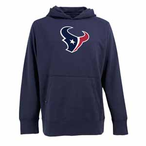 Houston Texans Big Logo Mens Signature Hooded Sweatshirt (Alternate Color: Navy) - Small