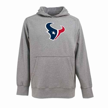 Houston Texans Big Logo Mens Signature Hooded Sweatshirt (Color: Gray)