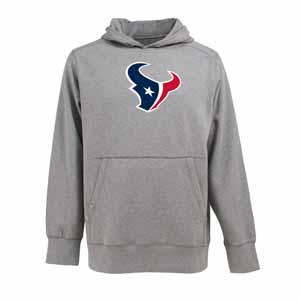 Houston Texans Big Logo Mens Signature Hooded Sweatshirt (Color: Gray) - Small