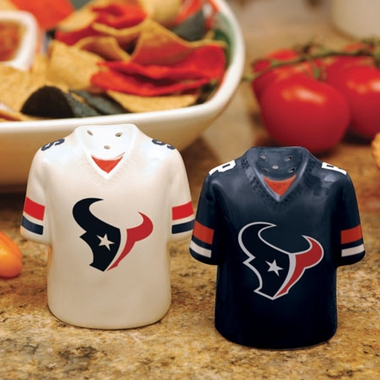 Houston Texans Ceramic Jersey Salt and Pepper Shakers