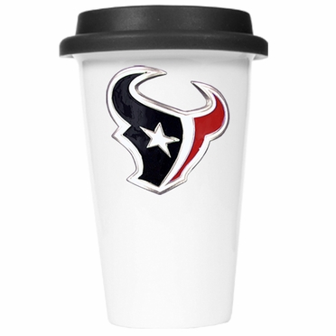Houston Texans Ceramic Travel Cup (Black Lid)