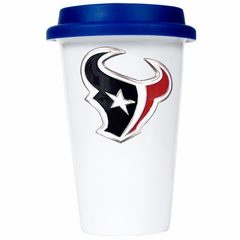 Houston Texans Ceramic Travel Cup (Team Color Lid)