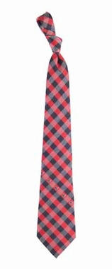 Houston Texans Check Poly Necktie