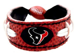 Houston Texans Classic Football Bracelet