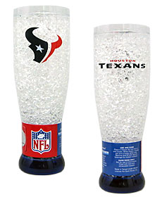 Houston Texans Crystal Pilsner Glass