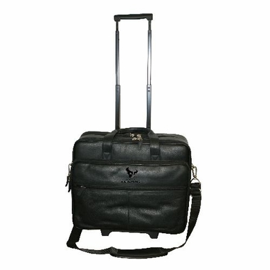 Houston Texans Debossed Black Leather Terminal Bag