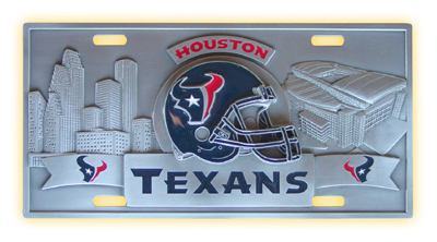 Houston Texans Deluxe Collector's License Plate