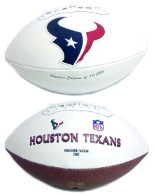 Houston Texans Embroidered Signature Series Football
