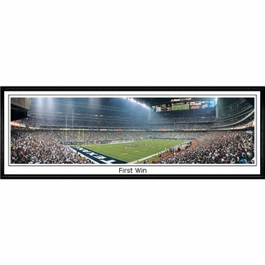Houston Texans First Win Framed Panoramic Print