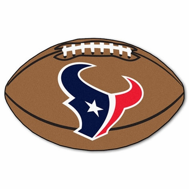 Houston Texans Football Shaped Rug