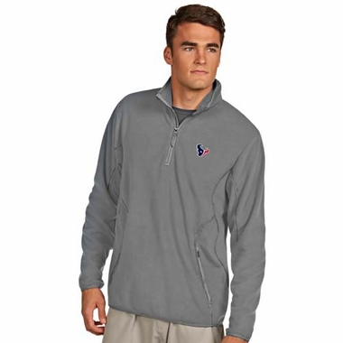 Houston Texans Mens Ice Polar Fleece Pullover (Color: Gray)
