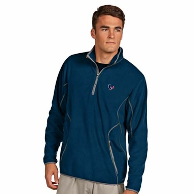 Houston Texans Mens Ice Polar Fleece Pullover (Color: Navy)