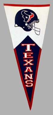 Houston Texans Large Wool Pennant